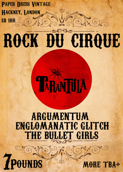 Rock du cirque line up poster