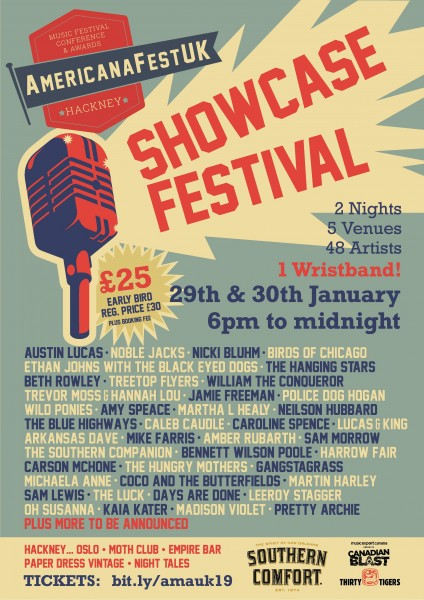AmericanaFestUK 19 Showcase poster for venues in Hackney (2)